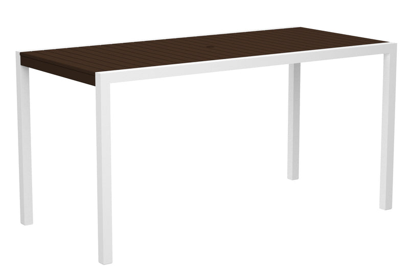 "8301-13MA MOD 36"" x 73"" Counter Table in Satin White and Mahogany"