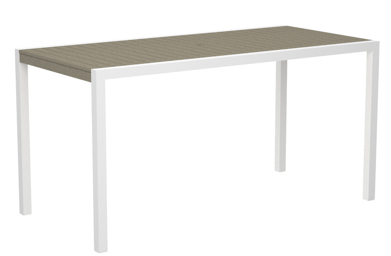 "8301-13SA MOD 36"" x 73"" Counter Table in Satin White and Sand"