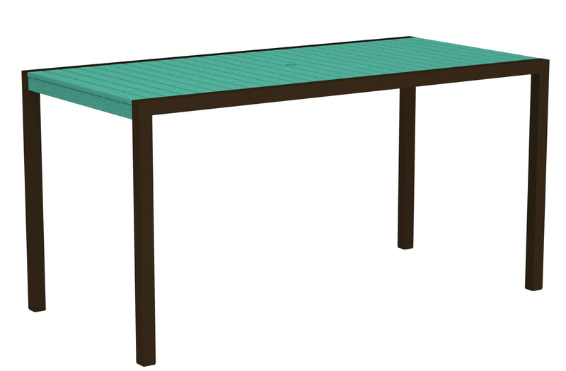 "8301-16AR MOD 36"" x 73"" Counter Table in Textured Bronze and Aruba"