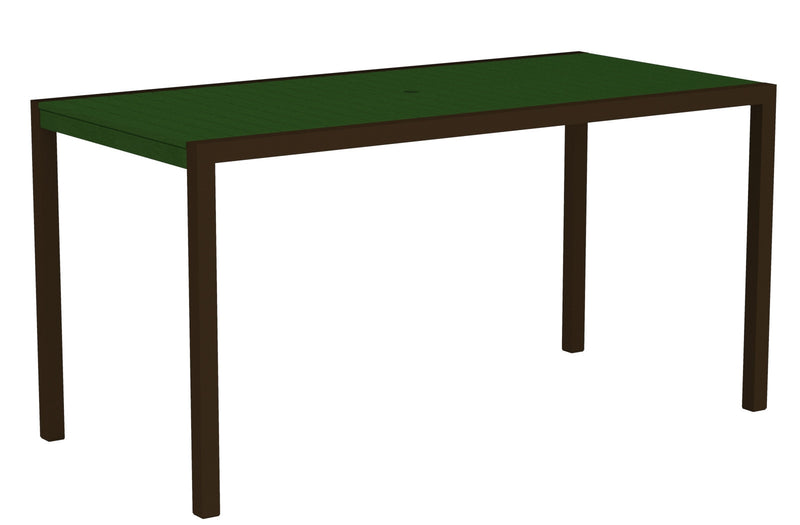 "8301-16GR MOD 36"" x 73"" Counter Table in Textured Bronze and Green"