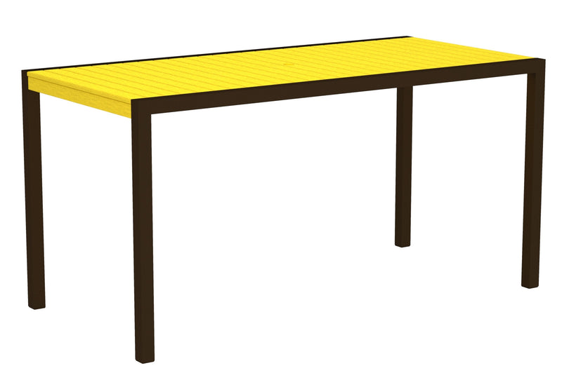 "8301-16LE MOD 36"" x 73"" Counter Table in Textured Bronze and Lemon"