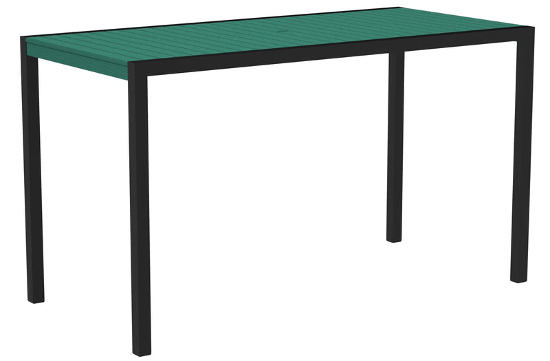 "8302-12AR MOD 36"" x 73"" Bar Table in Textured Black and Aruba"