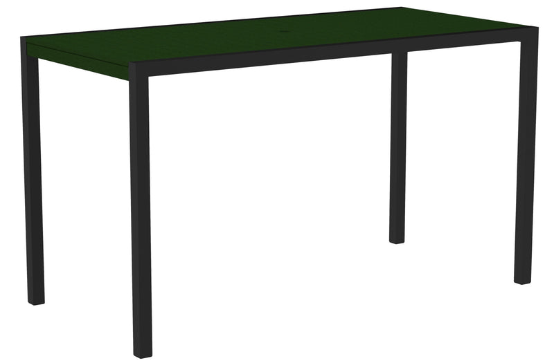"8302-12GR MOD 36"" x 73"" Bar Table in Textured Black and Green"