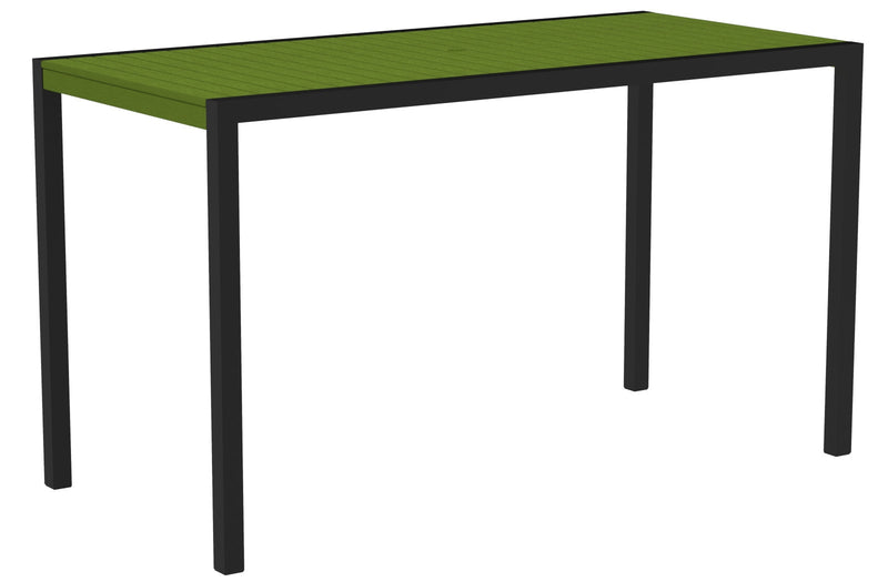 "8302-12LI MOD 36"" x 73"" Bar Table in Textured Black and Lime"