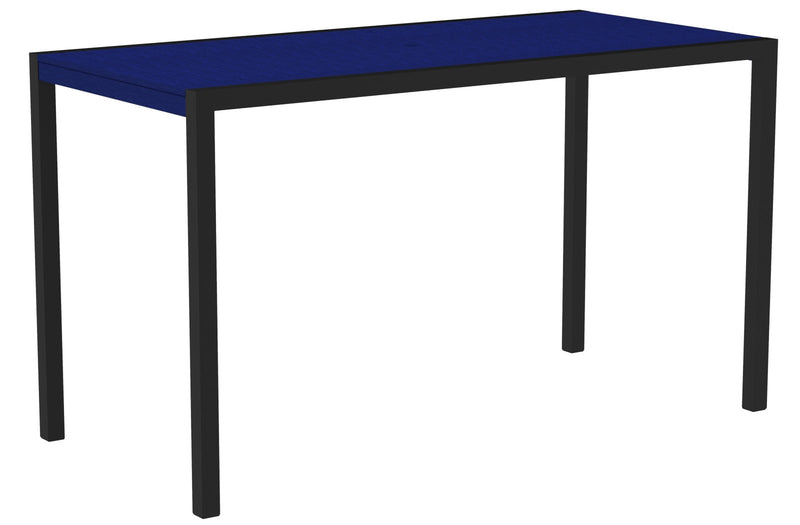 "8302-12PB MOD 36"" x 73"" Bar Table in Textured Black and Pacific Blue"