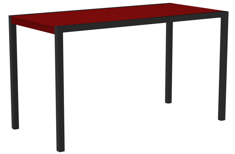 "8302-12SR MOD 36"" x 73"" Bar Table in Textured Black and Sunset Red"