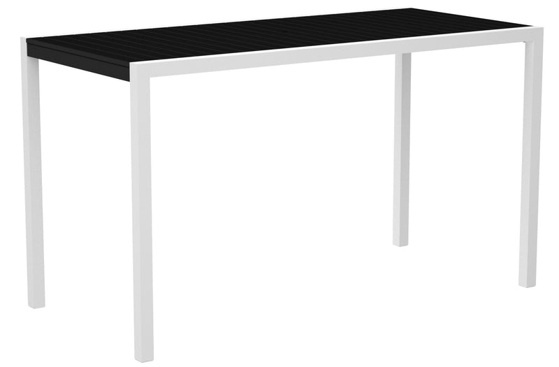 "8302-13BL MOD 36"" x 73"" Bar Table in Satin White and Black"