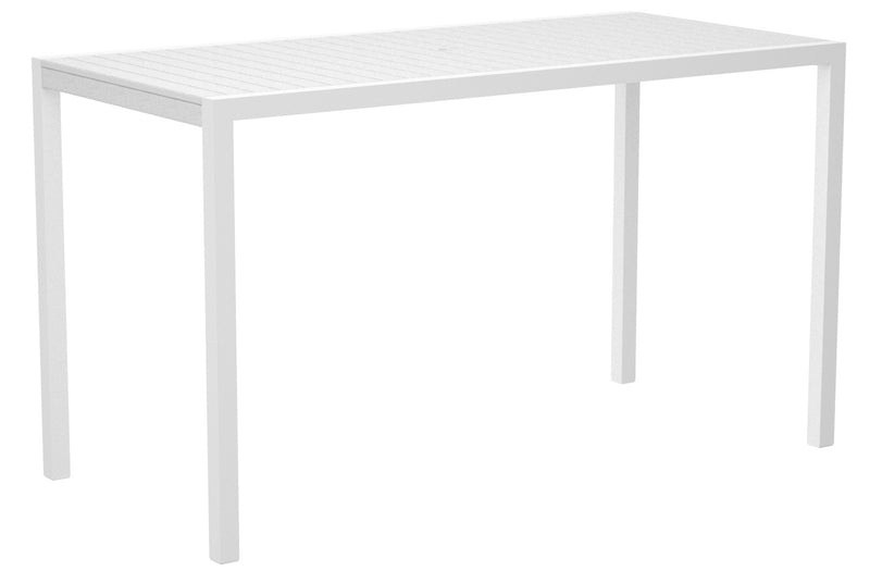 "8302-13WH MOD 36"" x 73"" Bar Table in Satin White and White"