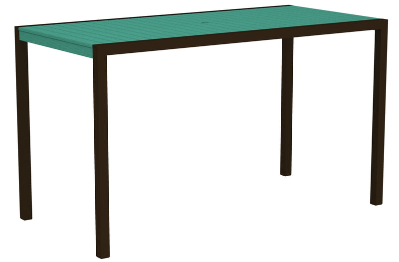 "8302-16AR MOD 36"" x 73"" Bar Table in Textured Bronze and Aruba"