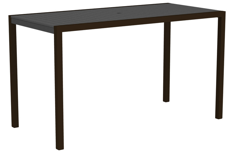 "8302-16GY MOD 36"" x 73"" Bar Table in Textured Bronze and Slate Grey"