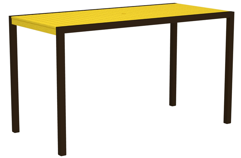 "8302-16LE MOD 36"" x 73"" Bar Table in Textured Bronze and Lemon"