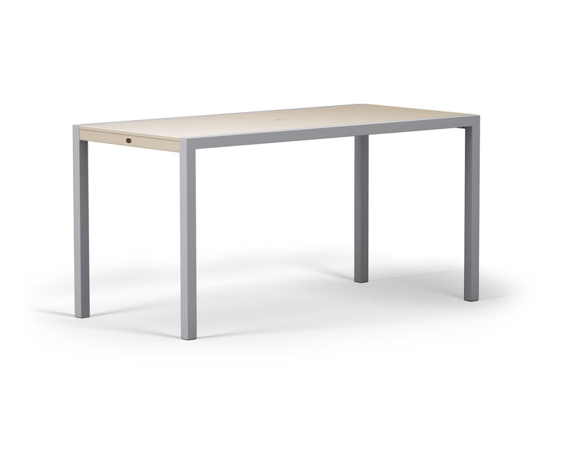 "8321-11MSA MOD SOLID 36"" x 73"" Counter Table in Textured Silver and Sand"
