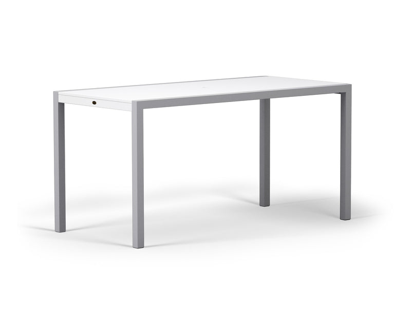 "8321-11MWH MOD SOLID 36"" x 73"" Counter Table in Textured Silver and White"