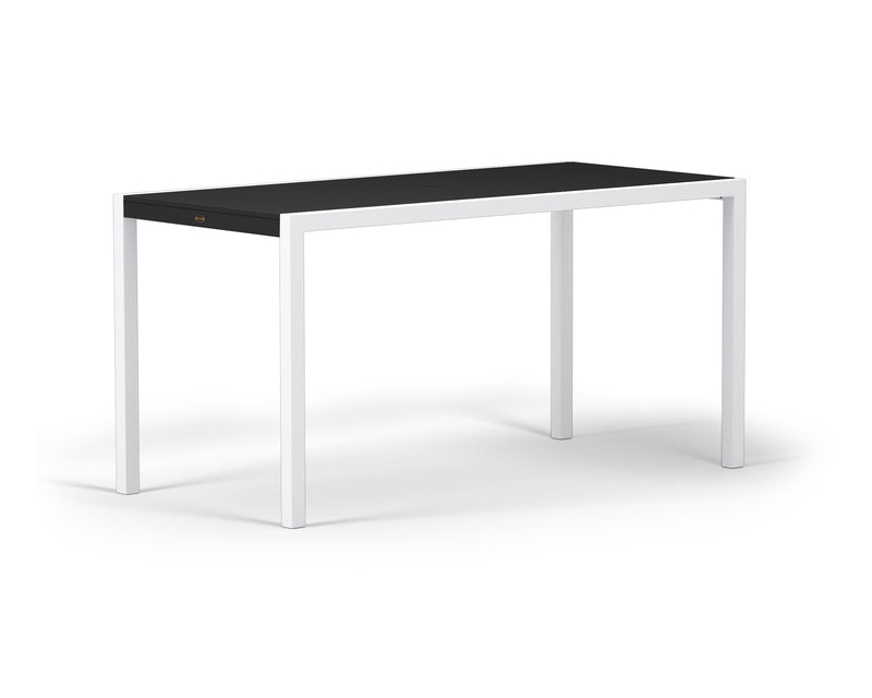 "8321-13MBL MOD SOLID 36"" x 73"" Counter Table in Satin White and Black"