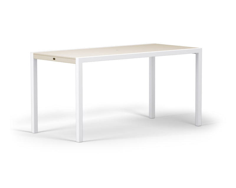 "8321-13MSA MOD SOLID 36"" x 73"" Counter Table in Satin White and Sand"