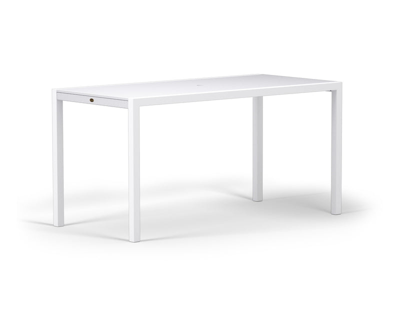 "8321-13MWH MOD SOLID 36"" x 73"" Counter Table in Satin White and White"