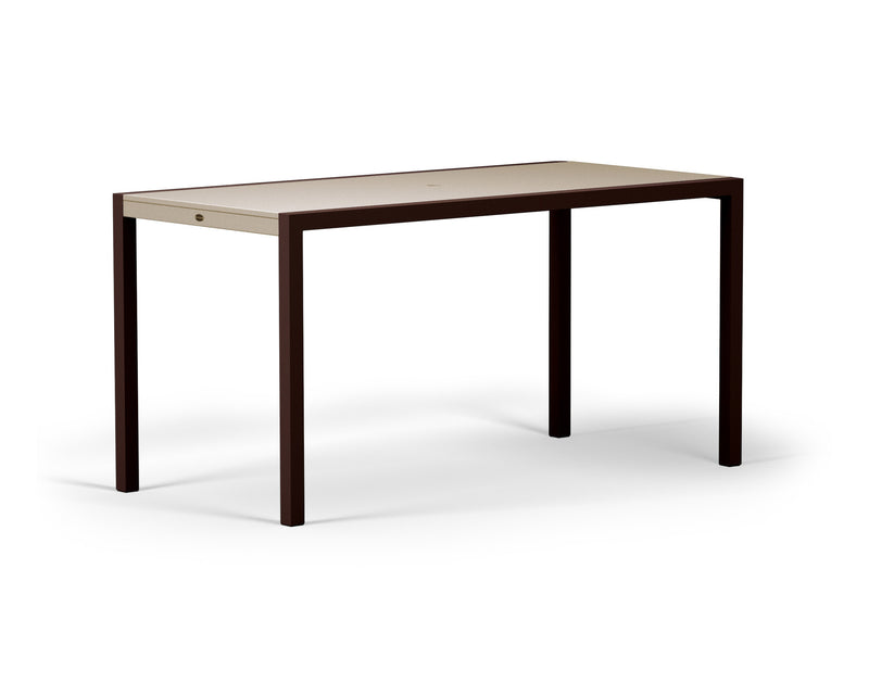 "8321-16MSA MOD SOLID 36"" x 73"" Counter Table in Textured Bronze and Sand"