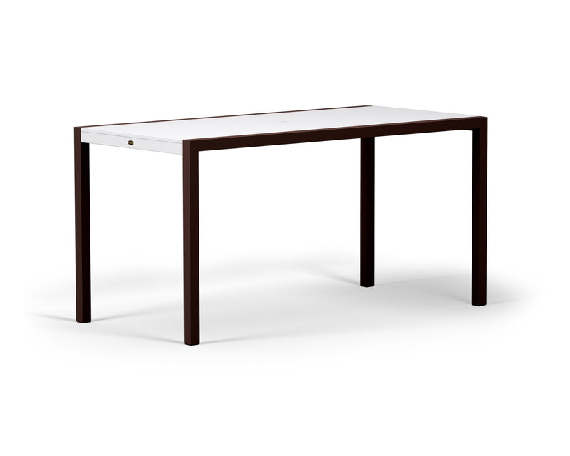 "8321-16MWH MOD SOLID 36"" x 73"" Counter Table in Textured Bronze and White"