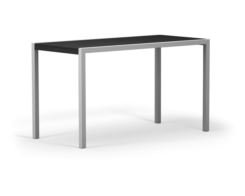 "8322-11MBL MOD SOLID 36"" x 73"" Bar Table in Textured Silver and Black"