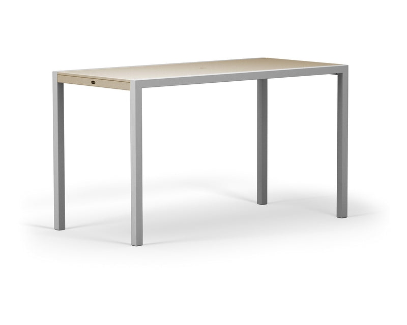 "8322-11MSA MOD SOLID 36"" x 73"" Bar Table in Textured Silver and Sand"
