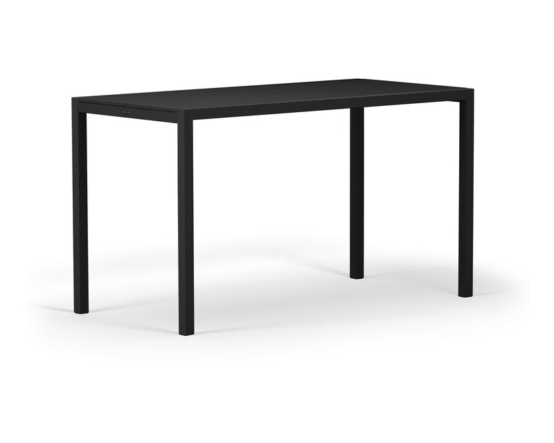 "8322-12MBL MOD SOLID 36"" x 73"" Bar Table in Textured Black and Black"
