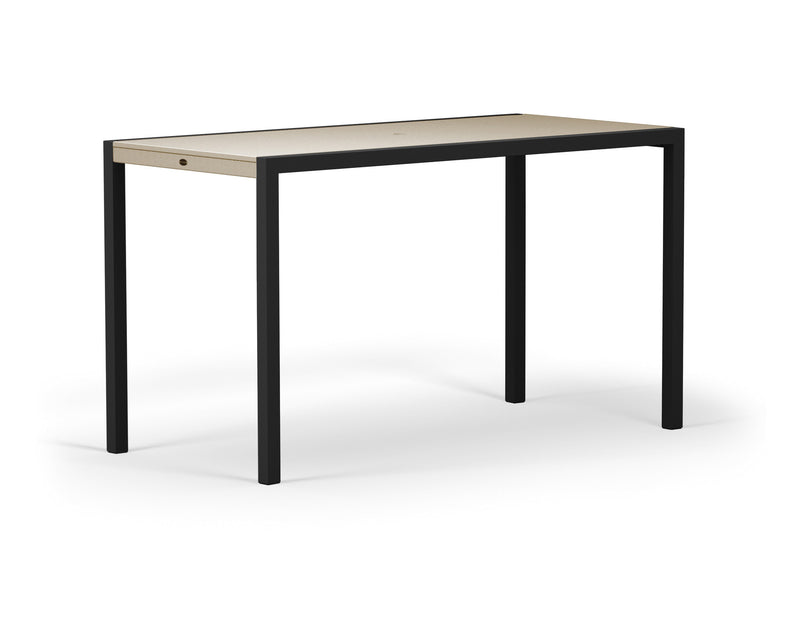 "8322-12MSA MOD SOLID 36"" x 73"" Bar Table in Textured Black and Sand"