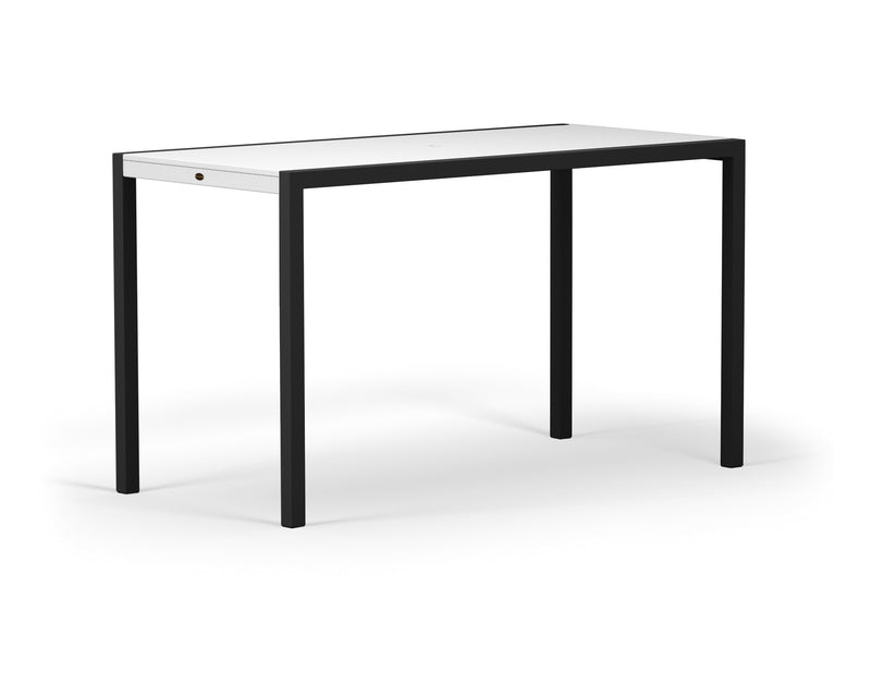 "8322-12MWH MOD SOLID 36"" x 73"" Bar Table in Textured Black and White"