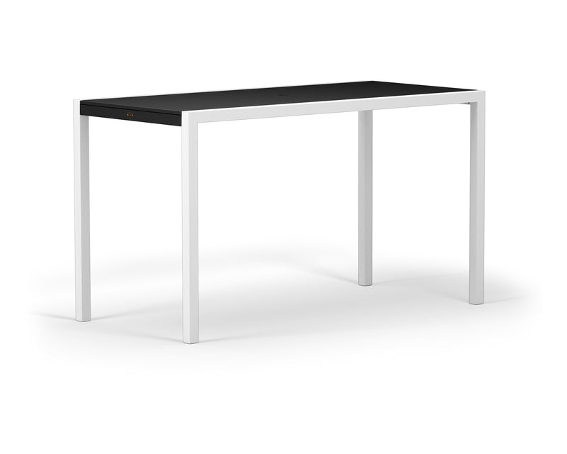 "8322-13MBL MOD SOLID 36"" x 73"" Bar Table in Satin White and Black"