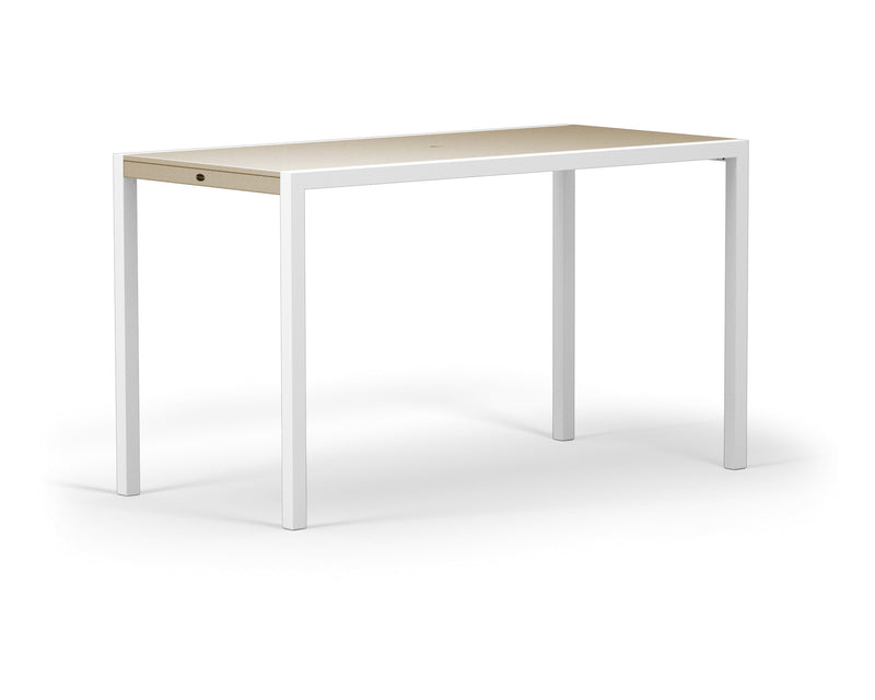 "8322-13MSA MOD SOLID 36"" x 73"" Bar Table in Satin White and Sand"