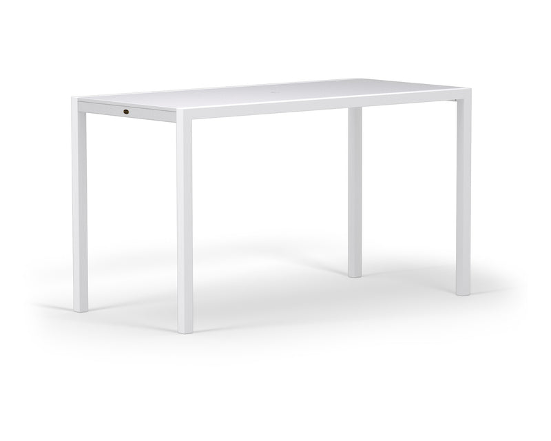"8322-13MWH MOD SOLID 36"" x 73"" Bar Table in Satin White and White"