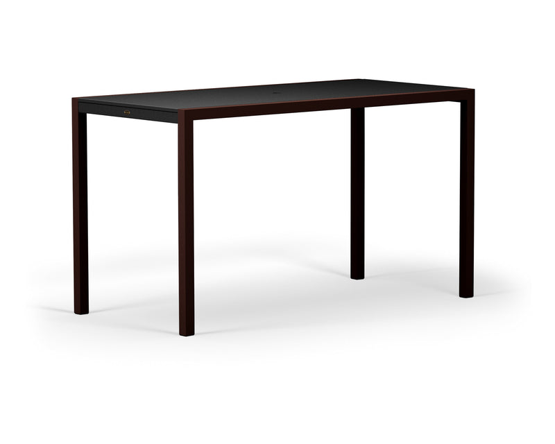"8322-16MBL MOD SOLID 36"" x 73"" Bar Table in Textured Bronze and Black"