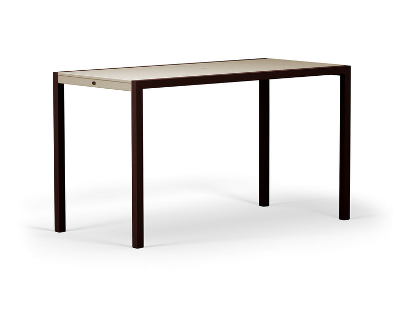 "8322-16MSA MOD SOLID 36"" x 73"" Bar Table in Textured Bronze and Sand"