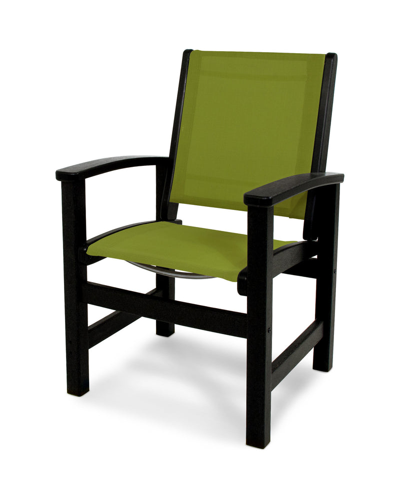 9010-BL911 Coastal Dining Chair in Black with a Kiwi Sling