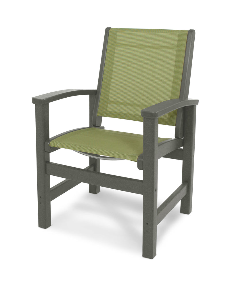 9010-GY911 Coastal Dining Chair in Slate Grey with a Kiwi Sling