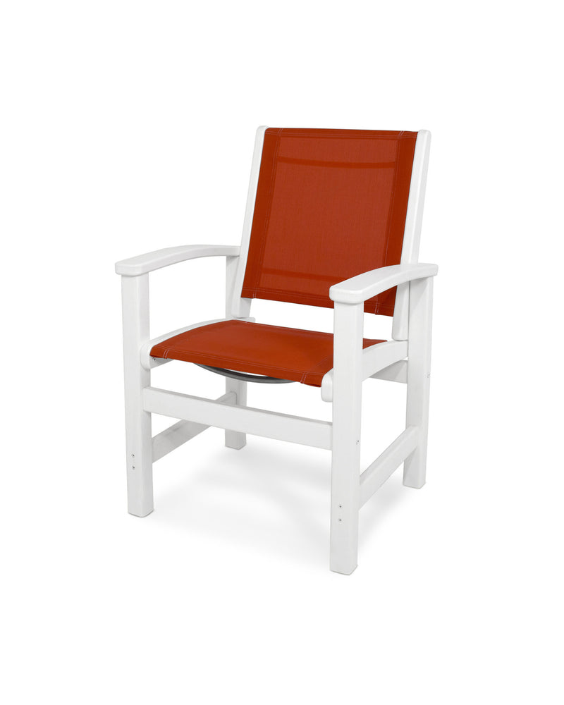 9010-WH907 Coastal Dining Chair in White with a Salsa Sling