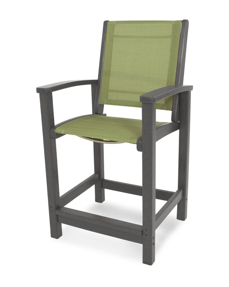 9011-GY911 Coastal Counter Chair in Slate Grey with a Kiwi Sling