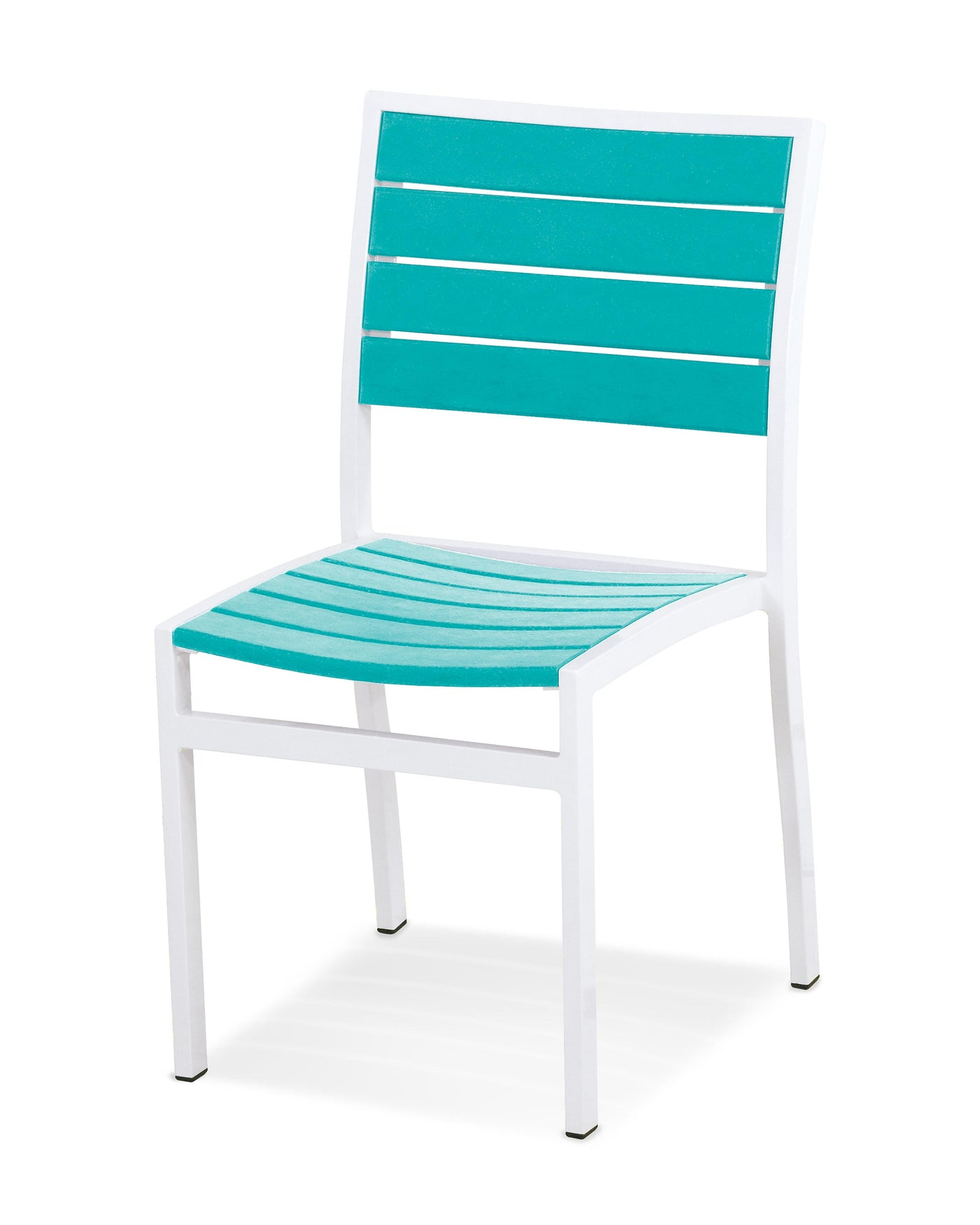 patio furniture with sleek aluminum frame combined with the recycled composite slats make for a durable, contemporary statement