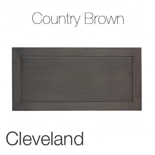 "Cleveland Coffee Table in Country Brown 23""x47"" Rectangular Top CBR"