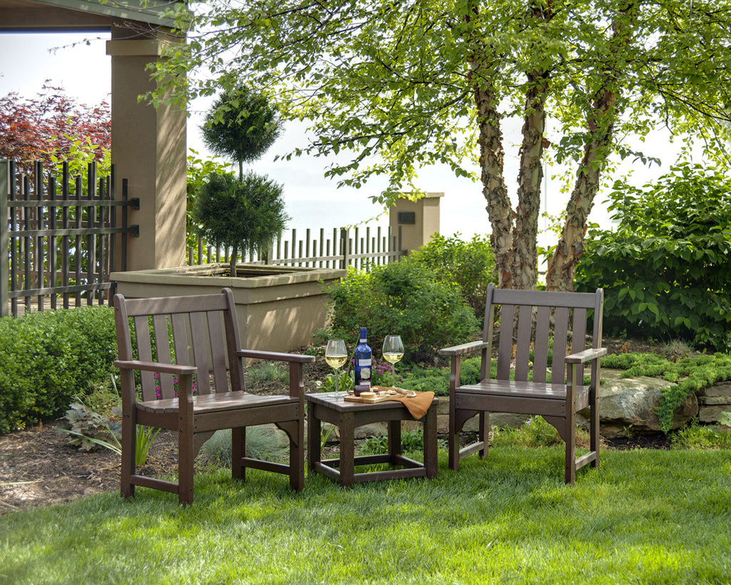 Polywood Vineyard 3 Piece Garden Chair Set