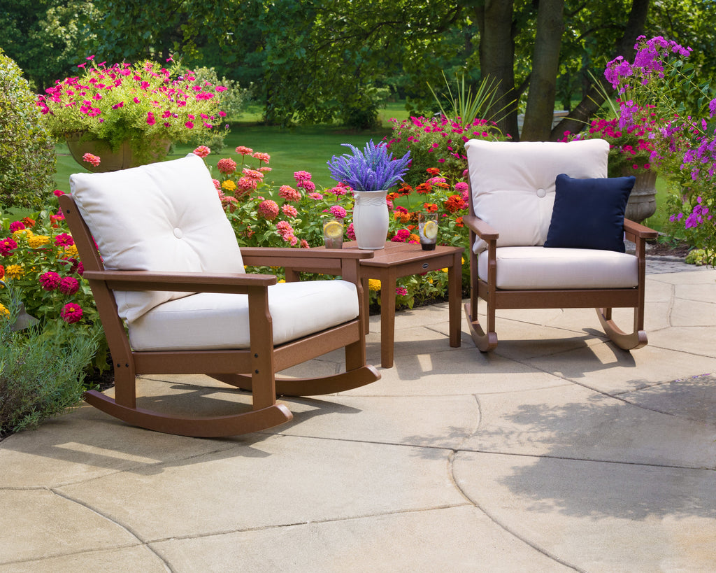 Polywood Vineyard 3 Piece Deep Seating Rocking Chair Set