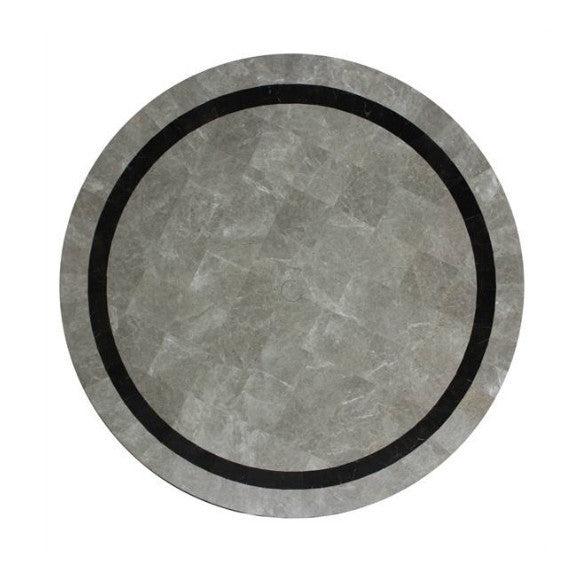 "Ratana Catania/Vino 48"" Round Faux Stone Table Top in Pattern B"