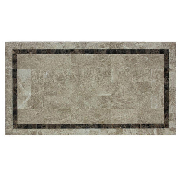 "Ratana Catania/Vino 71"" x 39"" Faux Stone Table Top in Pattern A"