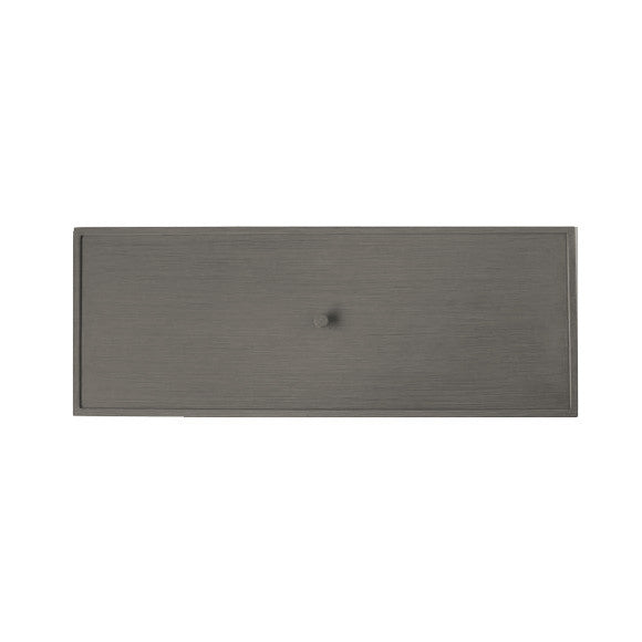 ... Ratana Elba (Pozzo) Rectangular Fire Pit Table Lid In Ash Grey Aluminum  ASG ...
