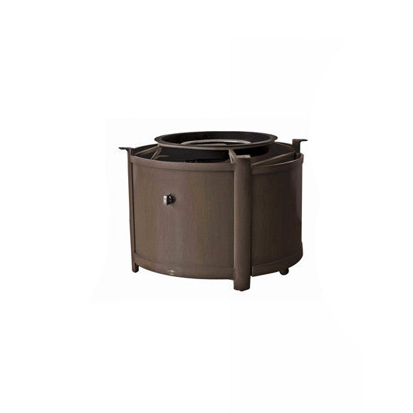 Elba (Pozzo) Round Fire Table Base by Ratana in Country Brown CBR