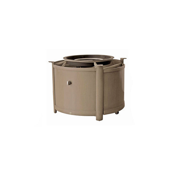 Elba (Pozzo) Round Fire Table Base by Ratana in Taupe TAU