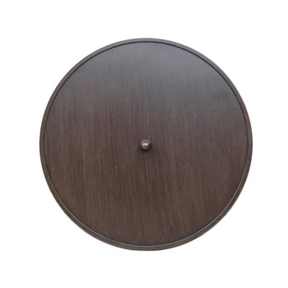 Ratana Elba (Pozzo) Round Fire Pit Table Lid in Country Brown Aluminum CBR