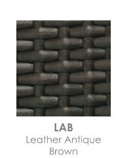 Leather Antique Brown Resin Wicker LAB by Ratana