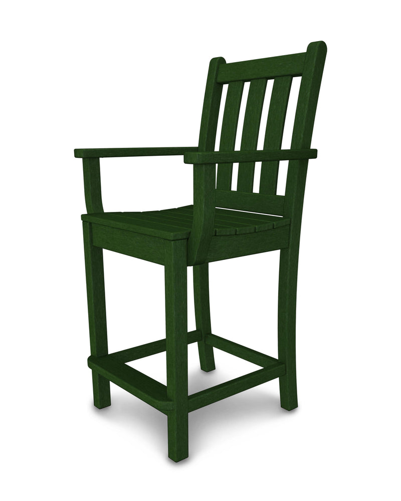 Traditional Garden Counter Arm Chair