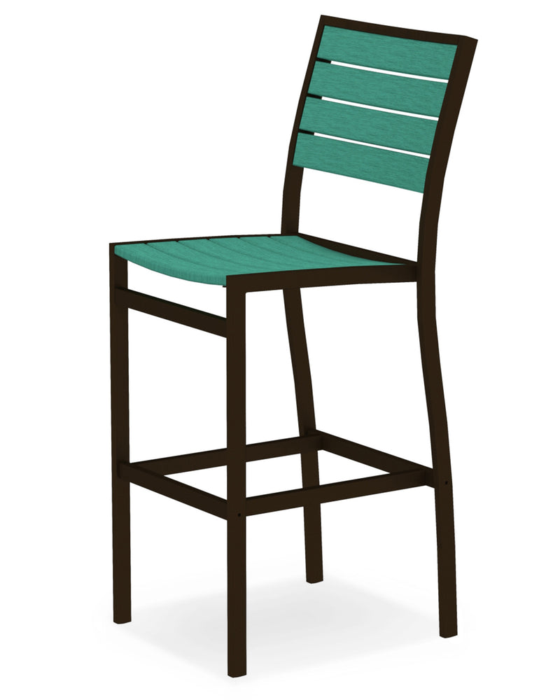 A102-16AR Euro Bar Side Chair in Textured Bronze and Aruba
