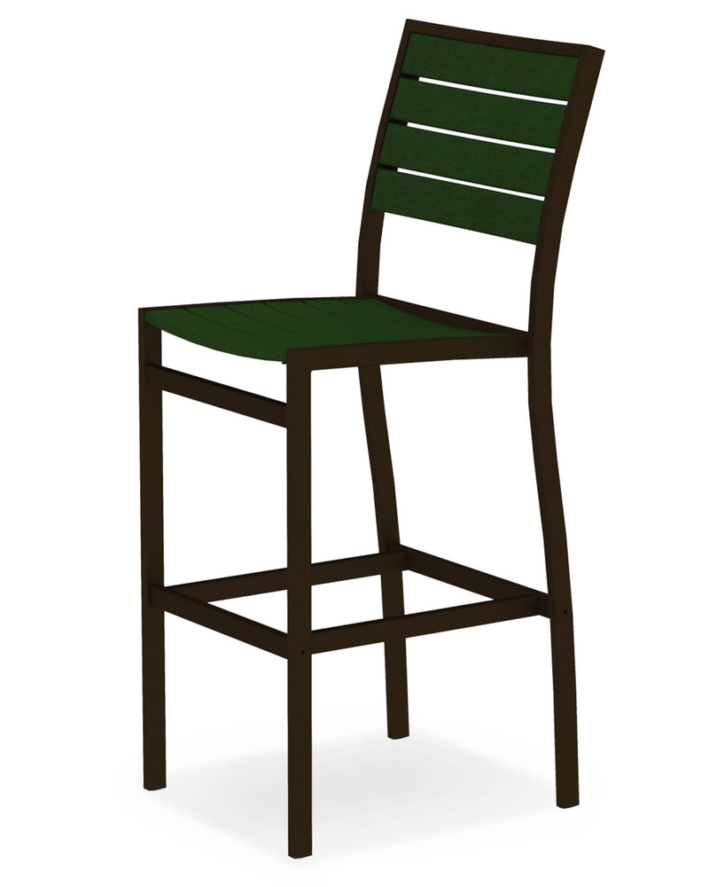 A102-16GR Euro Bar Side Chair in Textured Bronze and Green